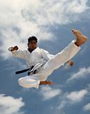 Zenji Ingham age 15 flying sidekick